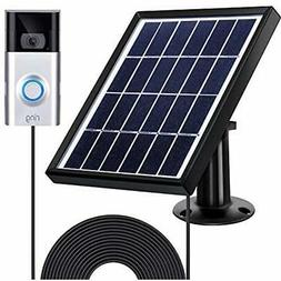 Solar Kits Panel Compatible With Ring Video Doorbell 1/2 Sec