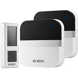 Solar Wireless Doorbell, Completely No Batteries Required, W