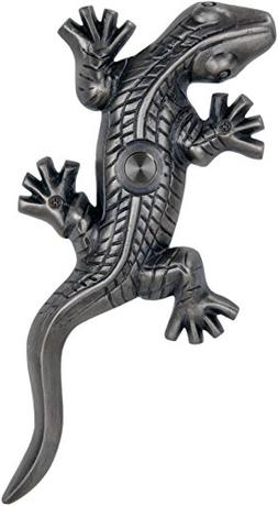 Waterwood Brass Large Lizard/Gecko Doorbell in Pewter