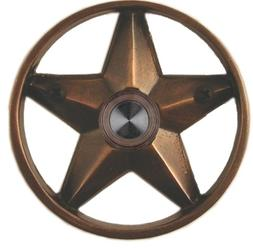 "Waterwood Brass Lone Star 3 1/4"" Doorbell in Oil Rubbed Bron"