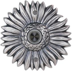 Waterwood Solid Brass Sunflower Doorbell in Pewter