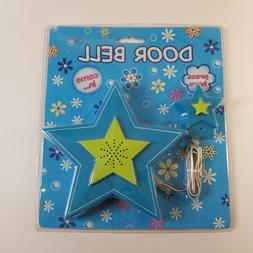Star Shaped Blue Toy Door Bell Child Kids Bedroom Decoration