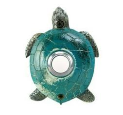 Surface Mount Push Button Doorbell Painted Green Turtle Colo
