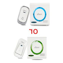 T-802 2Kinds Wireless Doorbell Chime Kit Remote Button w/ Re