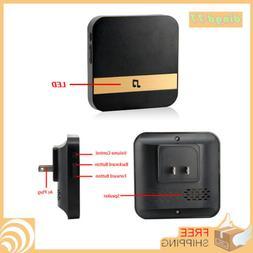 US-Plug-Wireless-WiFi-Doorbell-Chime-Ding-Dong-Visual-Door-B