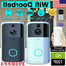 US Smart Video Wireless WiFi Door Bell IR Visual Camera Reco