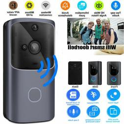 US WiFi Wireless Video Doorbell Two-Way Talk Smart PIR Door