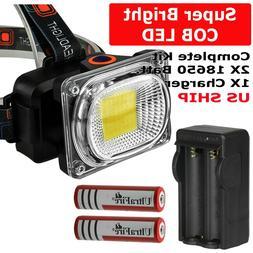 USB Rechargeable LED Headlamp Flashlight Headlight Head Torc