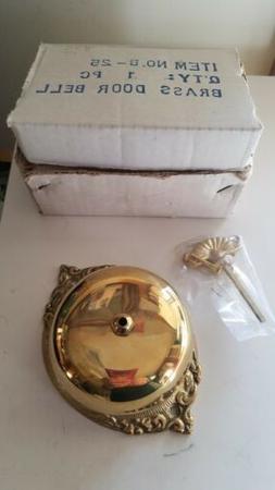 VICTORIAN STYLE REPRO NEW non-electric doorbell brass NIP B-