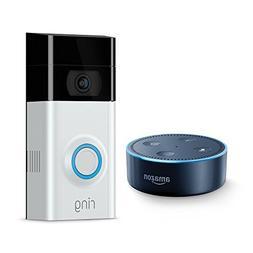 Ring Video Doorbell 2 + Echo Dot  - Black