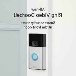 Ring Video Doorbell  - 1080p HD - Satin Nickel - 2020 Releas