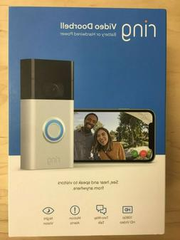 Ring Video Doorbell  - 1080p HD - Satin Nickel - 2020 Releas