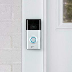 Ring Video Doorbell  Wi-Fi Motion-Activated Video 1080 HD-Al