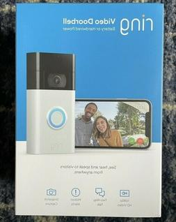 Ring Video Doorbell  Camera Satin Nickel Wifi 1080 HD Wirele