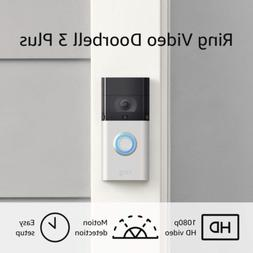 Ring Video Doorbell 3 Plus 1080p HD improved motion detectio
