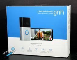 Ring Video Doorbell 3 Satin Nickel enhanced wifi, improved m