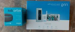 Ring Video Doorbell Pro + Chime + Echo Dot Bundle ~ SEALED H
