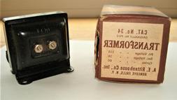Vintage Rittenhouse Doorbell Chime Transaformer #34...NOS