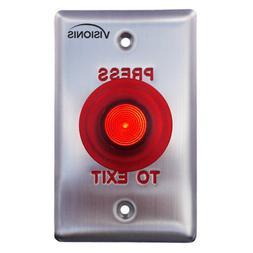 vis 7015 red round exit button