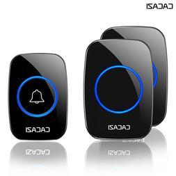 CACAZI Waterproof Home Wireless Doorbell Smart LED Light Cal