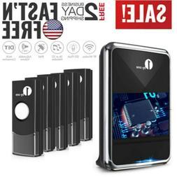 1byone Waterproof Wireless Door Push Bell Battery Doorbell C