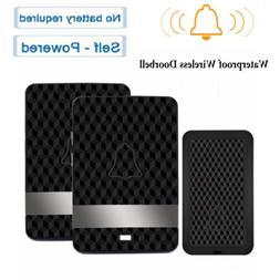 Waterproof Wireless Doorbell Door Bell Kit Receivers Transmi
