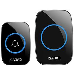 CACAZI Waterproof Wireless Doorbell Operating at over 1000-f