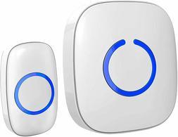 SadoTech White Wireless Doorbell Kit Model C Wireless Doorbe