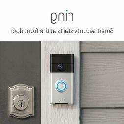 Ring Wi-Fi Enabled Video Doorbell in Satin Nickel / Venetian