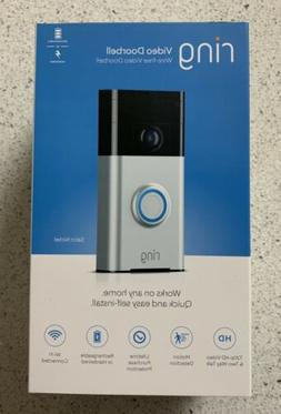 Ring Wi-Fi Enabled Video Doorbell in Satin Nickel - BRAND NE