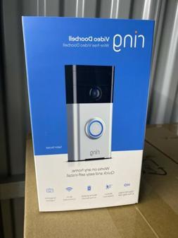 Ring Wi-Fi Enabled Video Doorbell - Satin Nickel