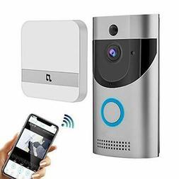 WiFi 720 Video Doorbell Camera,Waterproof IP65 Wireless Door