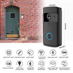 Ocamo WiFi Video Doorbell, Black Wireless Bluetooth Video Do