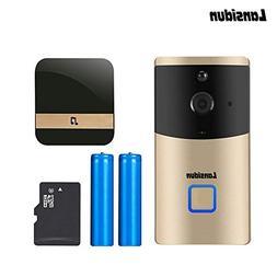 Lansidun WiFi Wireless Video Doorbell 720P HD Waterproof Sma