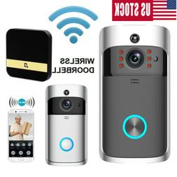 WiFi Wireless Video Doorbell Two-Way Talk Smart PIR Door Bel
