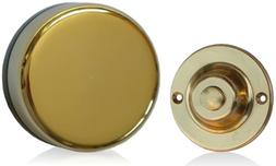 Wind Up Mechanical Doorbell, Round Brass Push, Model 850R