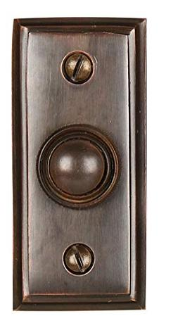 Wired Brass Doorbell Chime Push Button in Oil Rubbed Bronze