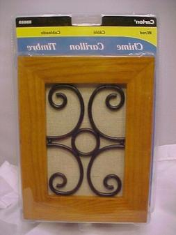 CARLON WIRED DOOR BELL CHIME wood  wire inlay decorative SS6