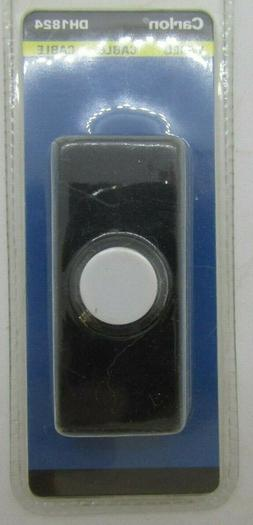 Carlon Wired Doorbell button DH1824 Black NVW20