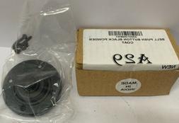 Wired Flush Fitting Doorbell Black Push Button, 80 mm  diam-