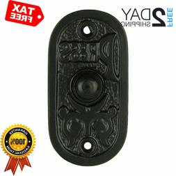 wired iron doorbell chime push button in