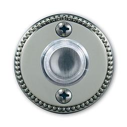 Wired LED Lighted Door Bell Button, Satin Nickel