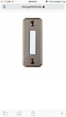 Hampton Bay Wired Lighted Door Bell Push Button, Aged Brass