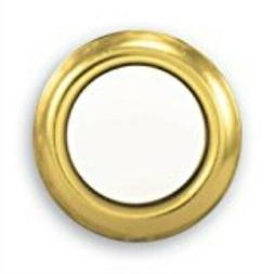 Wired Replacement Button - Gold Rim With Lighted Pearl Cente