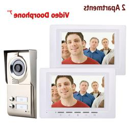 Wired Two Apartment/Home Video Doorbell IR-CUT Camera With 2