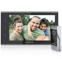 "Wired Video Doorbell Intercom System 7"" LCD Monitor,IR HD Ca"