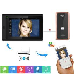 Wired Wifi IP Video Door Phone Doorbell Intercom Entry Syste