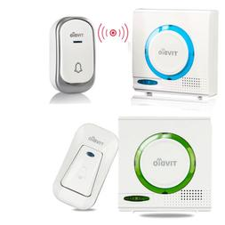 Wireless Battery Doorbell Chime Kit Remote Button W/ Receive