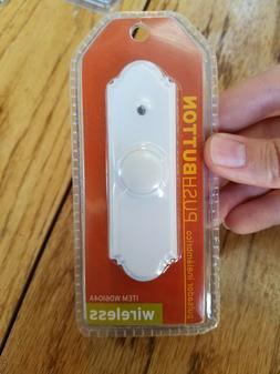 IQ America Wireless Battery Operated Doorbell Push Button, W