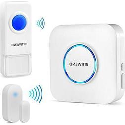 Wireless Chimes Doorbell Open Kit BITIWEND Waterproof Plus E